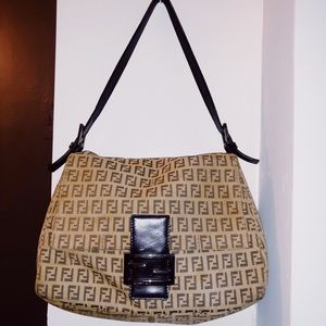 Fendi Zucca Print Mamma Brown Canvas bag